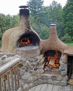 rustic pizza oven install.
