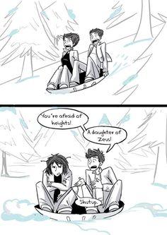 Thalia Grace and Percy Jackson in the Titan's Curse