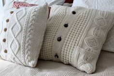 Repurpose grandpa's old sweater into one of these totally adorable pillows. Toss it on your couch or arrange a few on your bed for a cozy country look.  Get the tutorial at Maiden Jane.  - WomansDay.com