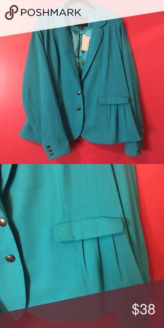 F21 Teal Turquoise Blue Blazer Plus Size Blazer Chic and trendy to add a pop to any outfit Forever 21 Jackets & Coats Blazers