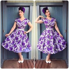 Miss Victory Violet in Malco Modes petticoat