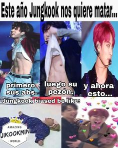 Translation this year jungkook wants to kill us he showed us his abs then his nipples and then the hair Abs Bts, Jungkook Abs, Foto Jungkook, Foto Bts, Bts Taehyung, Bts Bangtan Boy, Jung Kook, Frases Bts, Vkook Memes