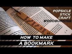 Woodburning a bookmark / popsicle stick craft / pyrography / artistblend Popsicle Stick Crafts, Popsicle Sticks, Craft Stick Crafts, Easy Projects, Wood Projects, Diy Bookmarks, Woodburning, Diy Arts And Crafts, Pyrography