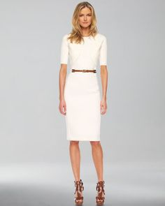 So simple and lovely, and then the shoes are like...BAM!!!! Love it!>Michael Kors