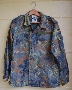 Vintage Military Camo Shirt Coat Army Camo Shirt