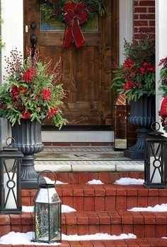 Holiday decorating starts at the door with our Red Berry Urn Filler. This lifelike foliage is pre-lit and bedecked with pine sprigs, hydrangea blooms and red berries. Handcrafted from durable materials suitable for outdoor use, this festive arrangement arrives in an artistically-aged weighted nursery urn.
