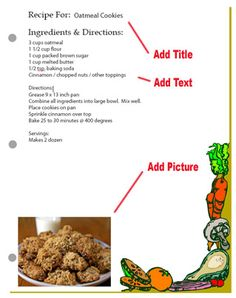 online recipe card