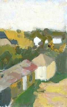 Fairfield Porter (1907-1975) View From Studio 1958