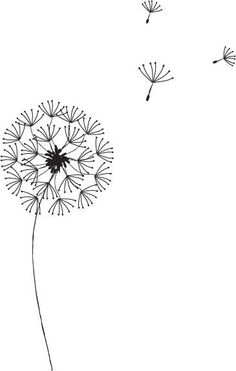 Dandelion Graphic by Everydaykelly v letter Dandelion Graphic by Lemonumi on DeviantArt Simple Embroidery, Embroidery Patterns, Hand Embroidery, Bullet Journal Ideas Pages, Bullet Journal Inspiration, Figure Painting, Painting & Drawing, Drawing Drawing, Stick Figure Drawing