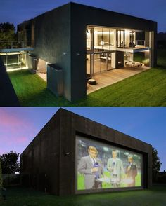 So the Zombie House doubles as an outdoor theater.  Awesome.