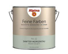 Alpina Feine Farben U201eSteinblaue Schönheitu201c: Seine Kühle Seite Gleicht  Dieses Blaugraue Mit Einem Anmutigen, Hellen Charakter Aus.
