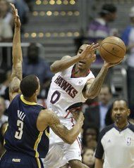 Eastern Conference Quarterfinals: Game 4 | (6) Atlanta #Hawks over (3) Indiana #Pacers 102-91. Series tied 2-2.
