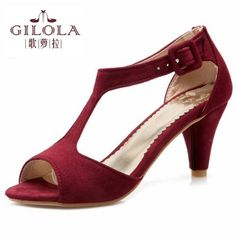 2017 new platform high heels women sandals spring summer black pink red  ladies women s shoes Spring ff8232021