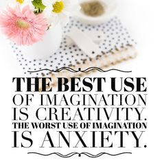 The best use of imagination is definitely creativity. #OrnamentsByRebecca #creativity #motivation