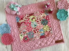 Elise and Emilie for the Pretty Handmades Book Showcase - the Garden Path Mini Quilt in Strawberry prints