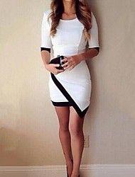 Women's Irregular Patchwork Colors Fashion Dress More Colors