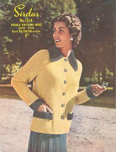 "Waistcoat /& Skirt 34-38/"" Vintage Knitting Pattern 1748 Ladies DK Cable Cardigan"