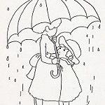 Sisters Under Umbrella in Rain 작성자 jeninemd
