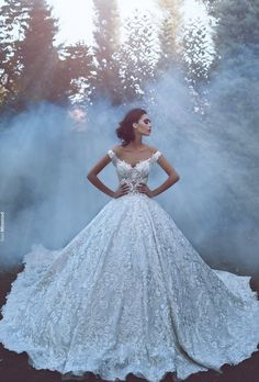 Luxury 2017 New Arrival Lace Wedding Dresses Off Shoulder Backless Vintage A Line Bridal Gown Wedding Gowns Robe Cathedral Train Custom Made - A Line Bridal Gowns, Lace Ball Gowns, Tulle Ball Gown, Bridal Dresses, Dream Wedding Dresses, Designer Wedding Dresses, Wedding Gowns, Lace Wedding, Dramatic Wedding Dresses