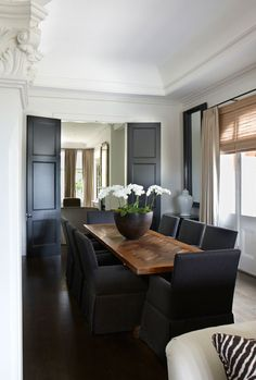 Black Dining Chairs, Contemporary, dining room, Cameron Kimber