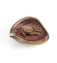A boxwood netsuke of a crab By Joso, Edo period, late 19th century