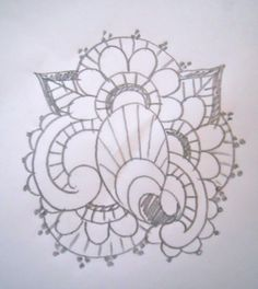 Easy Royal Icing Piping Patterns   Start with a line drawing of your design. I took an image I'd googled ...