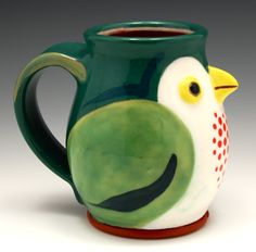 Bird mug 2011 Gillian McMillan Pots, Bird, Tableware, Dinnerware, Birds, Tablewares, Dishes, Place Settings, Cookware