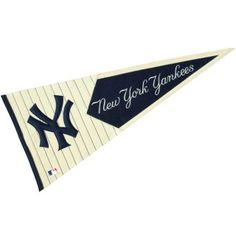 New York Yankees MLB Pennant measures 18x40 inches in size, is made of heavy wool, and offers quality embroidered MLB logos and lettering. Our New...