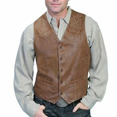 Scully Men's Frontier Leather Vest