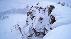 Professional skier Owen Leeper makes an epic backflip while skiing at the rocky slopes in Jackson Hole, Wyoming. Funny Sports Videos, Jackson Hole Skiing, Big Mountain, Winter Love, Photo Look, More Photos, Trees To Plant, Snowboarding, Travel