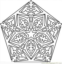 coloring pages of mandala to print | Coloring Pages Mandala9 (Cartoons > Miscellaneous) - free printable ...