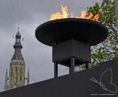 Breda, BEVRIJDINGSDAG 2012 op het Kasteelplein te Breda (Bevijdingsvuur aangestoken door minister president Rutten).