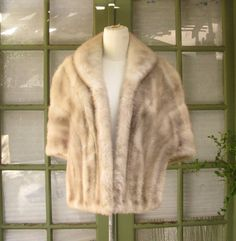 Vintage Taupe Champagne Women's Mink Stole by VintageApparelShop, $155.00