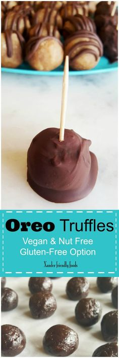 Easy & Delicious, 3 Ingredient Oreo Truffles for your next get-together. Vegan, Nut free & Gluten free.