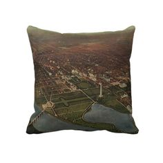 Vintage Pictorial Map of Washington D.C. (1916) Pillow from Zazzle.com $62.40