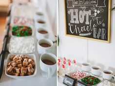 A fun hot chocolate bar