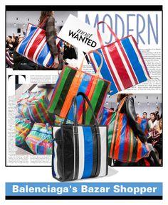 """""""Balenciaga's Bazar Shopper"""" by sandrascloset ❤ liked on Polyvore featuring Balenciaga"""