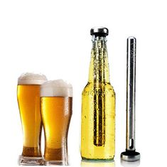 Swanky Beer Chiller Rod made from stainless steel, durable, easy to wash, and clean. Call us-9899313328 for Swanky Beer Chiller Rod Oder Info Stainless Steel Tubing, Bar Accessories, Bottle Stoppers, Best Beer, Uv Led, Beer Bottle, Drinks, Seal, Oder