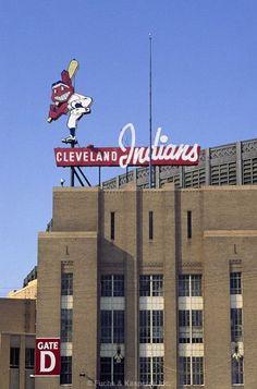 Cleveland Municipal Stadium--a relic