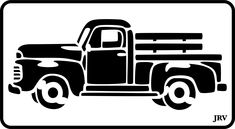 Jeep Pickup Truck, Vintage Pickup Trucks, Old Trucks, Classic Pickup Trucks, Lifted Trucks, Cricut Vinyl, Vinyl Decals, Toyota Tacoma Trd, Stencil Designs
