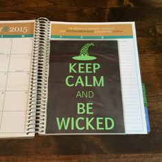 Wicked Witch Laminated Cover/Sidekick for Erin by PlanTheDay