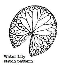 Water lily template. Size 4 (Verify size before you cut out fabric ...