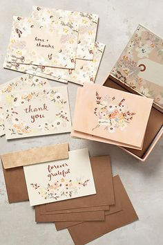Fields Abloom Thank You Cards - anthropologie.com