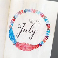 I finally took the time to do my presentation page for July... Blue and red for July 14th, Bastille day in France (good thing France and US have the same colours) - j'ai enfin trouvé le temps de faire ma page de présentation pour juillet... Je ne suis pas allée chercher bien loin pour les couleurs #bulletjournal #Bujoinspire #bulletjournallove #bujo #bujobeauty #bujoinspiration #bujoaddict #bujojunkie #bujocommunity #plan #planner #plannercommunity #showmeyourplanner #leuchttur...