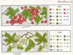 ru / Photo # 74 - bookmarks and what can be them - irisha-ira Cross Stitch Fruit, Cross Stitch Bookmarks, Cross Stitch Flowers, Peyote Patterns, Cross Stitch Patterns, Book Markers, Dmc, Chart Design, Goblin