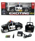 1:14 Scale RC FORD F-350 POLICE TRUCK CAR REMOTE CONTROL KIDS TOYS RC Truck with Lights and Music with Rechargeable Batteries