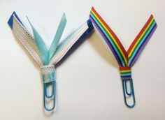 Rainbow Ribbon Paperclip Set - Planner/Journal/Bookmark - Erin Condren, Kikki K, Happy Planner