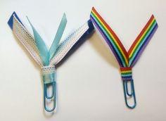 Rainbow Ribbon Paperclip Set - Planner/Journal/Bookmark - Erin Condren, Kikki K, Happy Planner