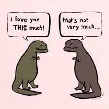 Oh dinosaurs, you are so funny