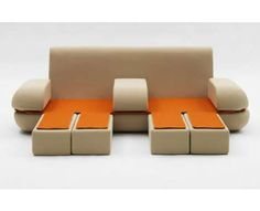 15 Matali Crasset Creations - From Extravagant Eco-Escapes to Convertible Stool Mattresses Folding Furniture, Bespoke Furniture, Unique Furniture, Contemporary Furniture, Furniture Decor, Design Projects, Diy Design, Design Trends, Design Ideas